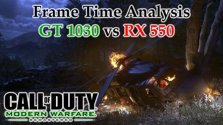 GT 1030 vs RX 550 Frame Time Analysis w/ G4560 - Call of Duty: Modern Warfare Remastered [ACT1 - HUNTED]