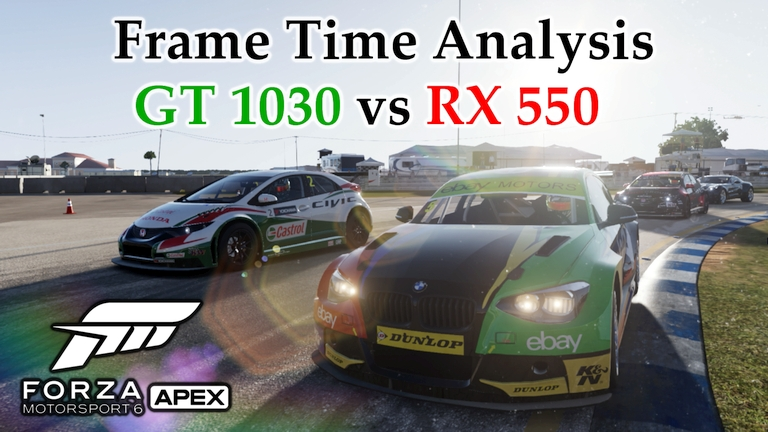 GT 1030 vs RX 550 Frame Time Analysis w/ G4560 - Forza Motorsport 6: Apex [SEBRING]