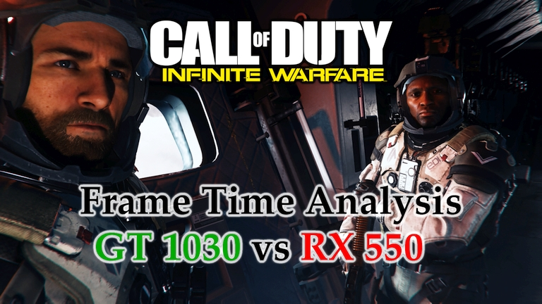 GT 1030 vs RX 550 Frame Time Analysis w/ G4560 - Call of Duty: Infinite Warfare [RISING THREAT]