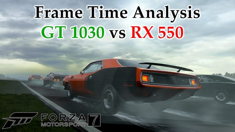 GT 1030 vs RX 550 Frame Time Analysis w/ G4560 - Forza Motorsport 7 [HISTORIC @ VIRGINIA]