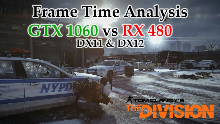 GTX 1060 vs RX 480 Frame Time Analysis - Tom Clancy's The Division DX11 & DX12 [BENCHMARK]