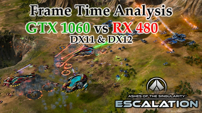 GTX 1060 vs RX 480 Frame Time Analysis - Ashes of the Singularity: Escalation DX11 & DX12 [BENCHMARK]